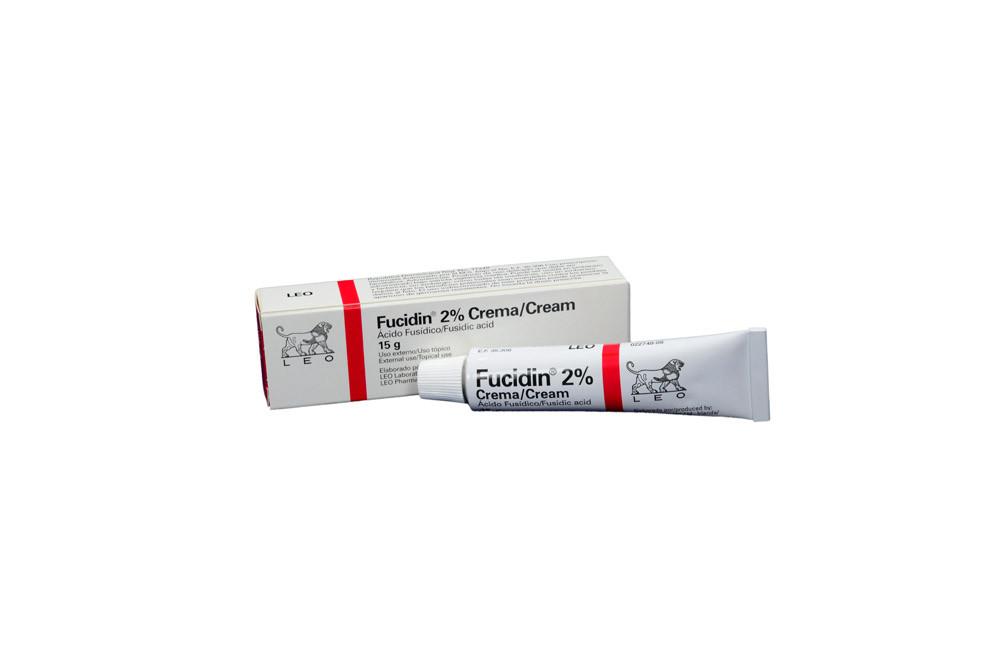 En la foto hay una caja y un tubo Fucidin crema 2%
