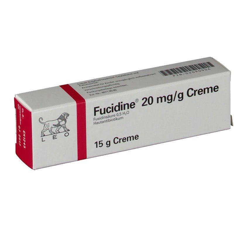 Por paquete de Fucidin crema 20 mg
